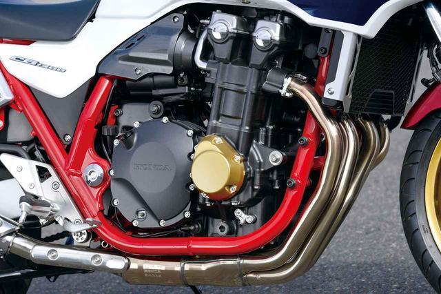 画像: 熟成を重ねてきた1284㏄水冷直4エンジン。今回のモデルチェンジでスロットルバイワイヤを採用し、スムーズかつ力強い走りを実現している。