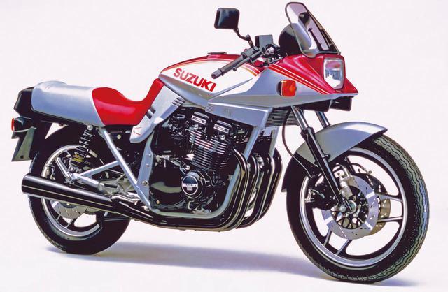 画像: 1983年 GSX1100S SD 初めて登場したレッドは北米向けのSD。カラーというより太めのストライプデザインで、このほかにブルーもあった。
