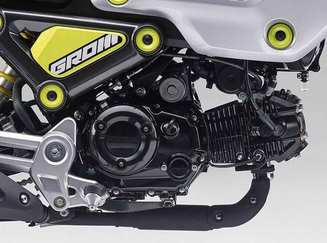 画像: 国内仕様のホンダ新型グロムのエンジン。