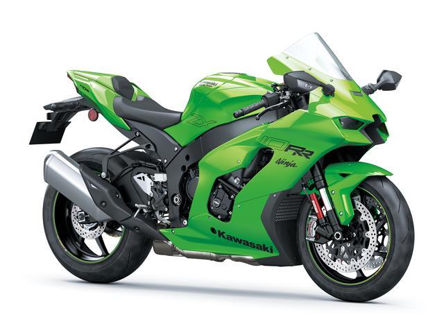 画像: Kawasaki Ninja ZX-10RR 2021年モデル 総排気量:998cc エンジン形式:水冷4ストDOHC4バルブ並列4気筒 最高出力:150kW(204PS)/14000rpm ラムエア加圧時157.5kW(214.1PS)/14000rpm シート高:835mm 車両重量:207kg 発売日:2021年6月25日予定 メーカー希望小売価格:税込328万9000円