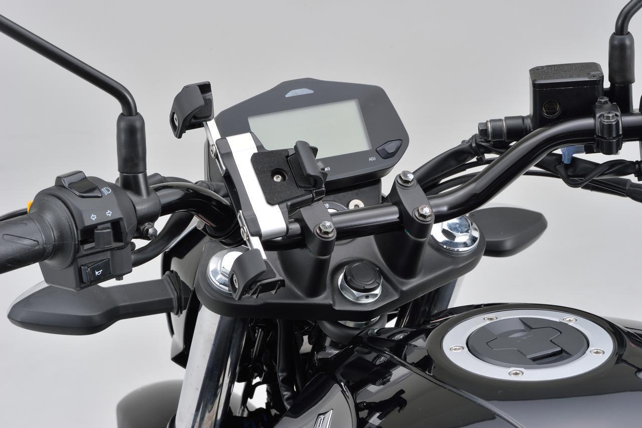 画像: デイトナ「スマートフォンホルダー3」 税込価格:5280円 取り付け可能ハンドル外径:Φ22~29mm 装着可能機種寸法 高さ123~170mm、幅55~85mm、厚さ6~18mm、重量300g以下