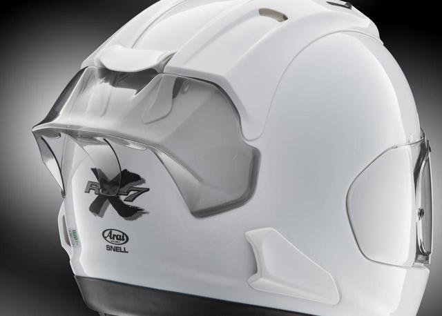 画像: アライヘルメット RX-7X レーシングスポイラー 税込価格:4400円 (ライトスモーク) 5500円 (白、黒、グラスホワイト、グラスブラック、フラットブラック)