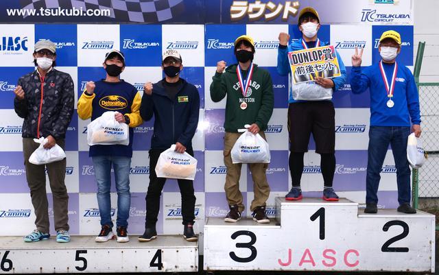 画像: ●C1級入賞者 左から6位・室伏克樹選手、5位・明石昌和選手、4位・松野秀次選手、3位・松下 良選手、1位・地下和宏選手、2位・元田 哲選手