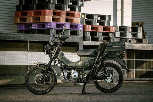 画像: ミリタリーとアウトドアなCT125ハンターカブ、ダートフリークが放つ本格「土」仕様 - webオートバイ