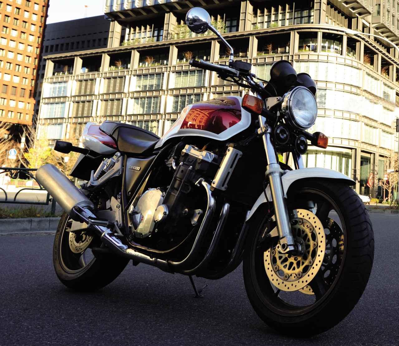画像: Honda CB1000 SUPER FOUR 1992年11月登場 エンジン形式:空冷4ストDOHC4バルブ並列4気筒 総排気量:998㏄ 最高出力:93PS/8500rpm 最大トルク:8.6kg-m/6000rpm 車両重量:260kg タイヤサイズ:120/70R-18・170/60ZR-18 当時の発売価格:92万円 ※諸元はCB1000スーパーフォア・1992年モデル