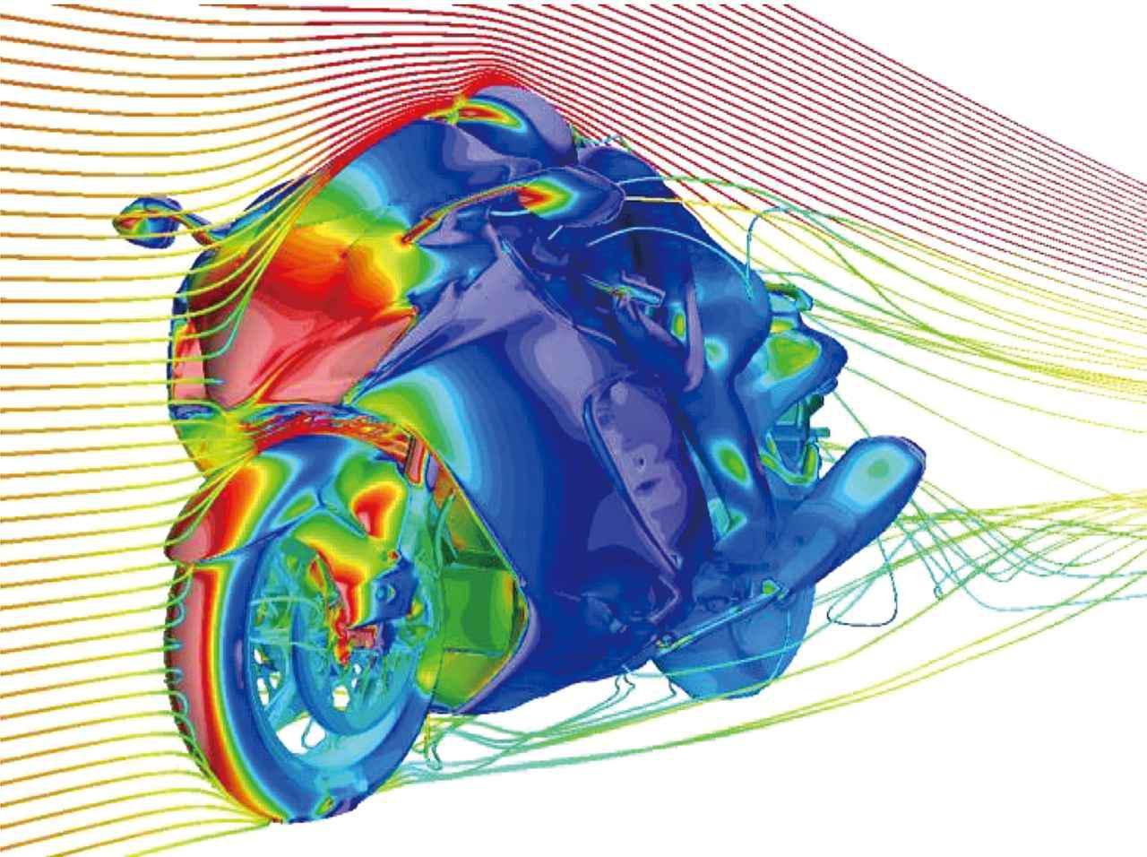 画像: コンピューターによるシミュレーションや風洞実験を重ねて空気の流れを解析することで、エアロフォルムは形作られている。