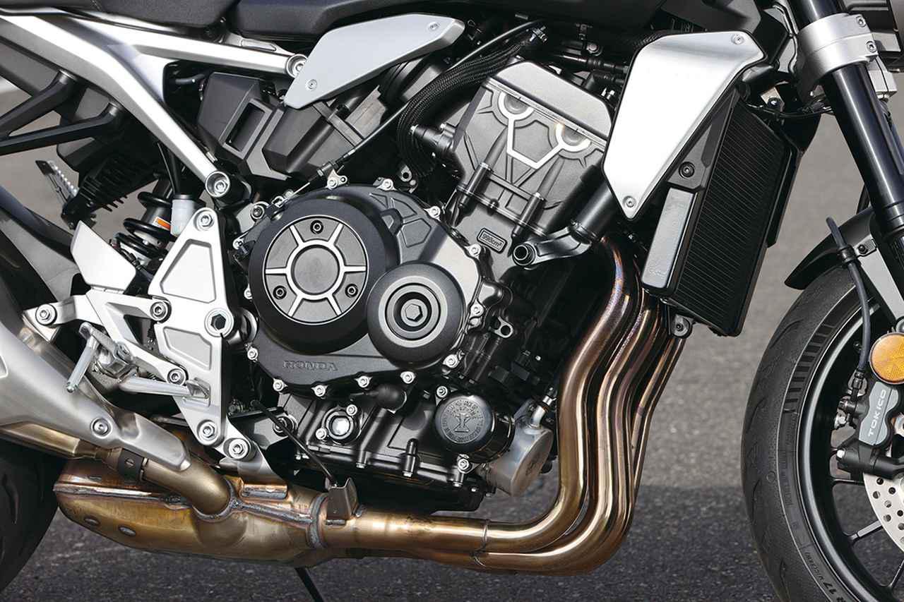 画像: CBR1000RR用がベースの998㏄水冷直4エンジンは最高出力145PS。豊かな低中速トルクを活かしたアグレッシブさを狙ったチューニング。