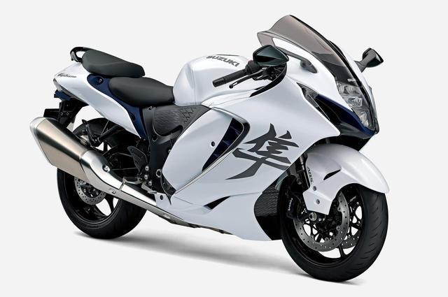 画像: SUZUKI Hayabusa 2021年モデル 総排気量:1339cc エンジン形式:水冷4ストDOHC4バルブ並列4気筒 シート高:800mm 車両重量:264kg 発売日:2021年4月7日(水) メーカー希望小売価格:税込215万6000円〜222万2000円