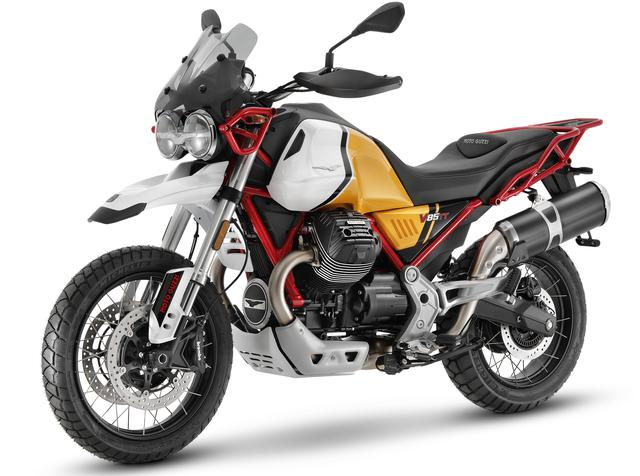 画像: MOTO GUZZI V85 TT 排気量:853cc エンジン形式:空冷4ストOHV V型2気筒 シート高:830mm 車両重量:230kg 発売日:2021年6月予定 メーカー希望小売価格:税込149万6000円