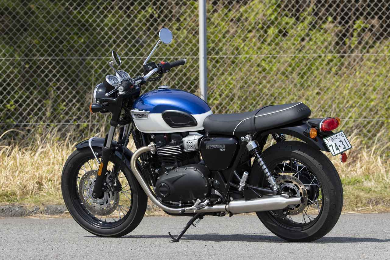 Images : 4番目の画像 - 【写真をもっと見る】トライアンフ新型「ボンネビルT100」(18枚) - webオートバイ