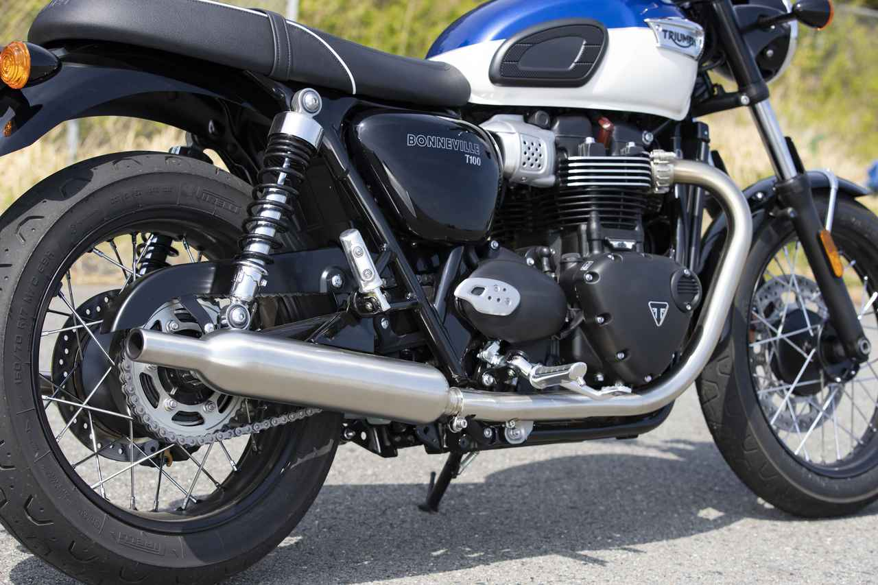 Images : 7番目の画像 - 【写真をもっと見る】トライアンフ新型「ボンネビルT100」(18枚) - webオートバイ