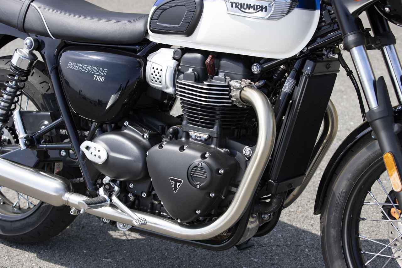 画像: 総排気量:900cc エンジン形式:水冷4ストSOHC4バルブ並列2気筒270°クランク ボア×ストローク:84.6×80.0mm 圧縮比:11.0 最高出力:48kW(65PS)/7400rpm 最大トルク:80N・m/3750rpm
