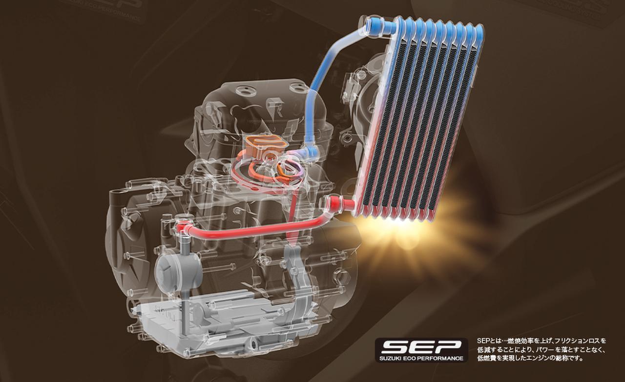 画像1: スズキお得意の油冷エンジンを搭載、リーズナブルな価格も魅力