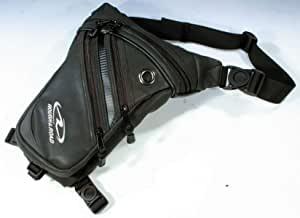 画像: Amazon.co.jp: ラフアンドロード(ROUGH&ROAD) バイク用ホルスターウエストバッグ マットレザー RR5669: 車&バイク