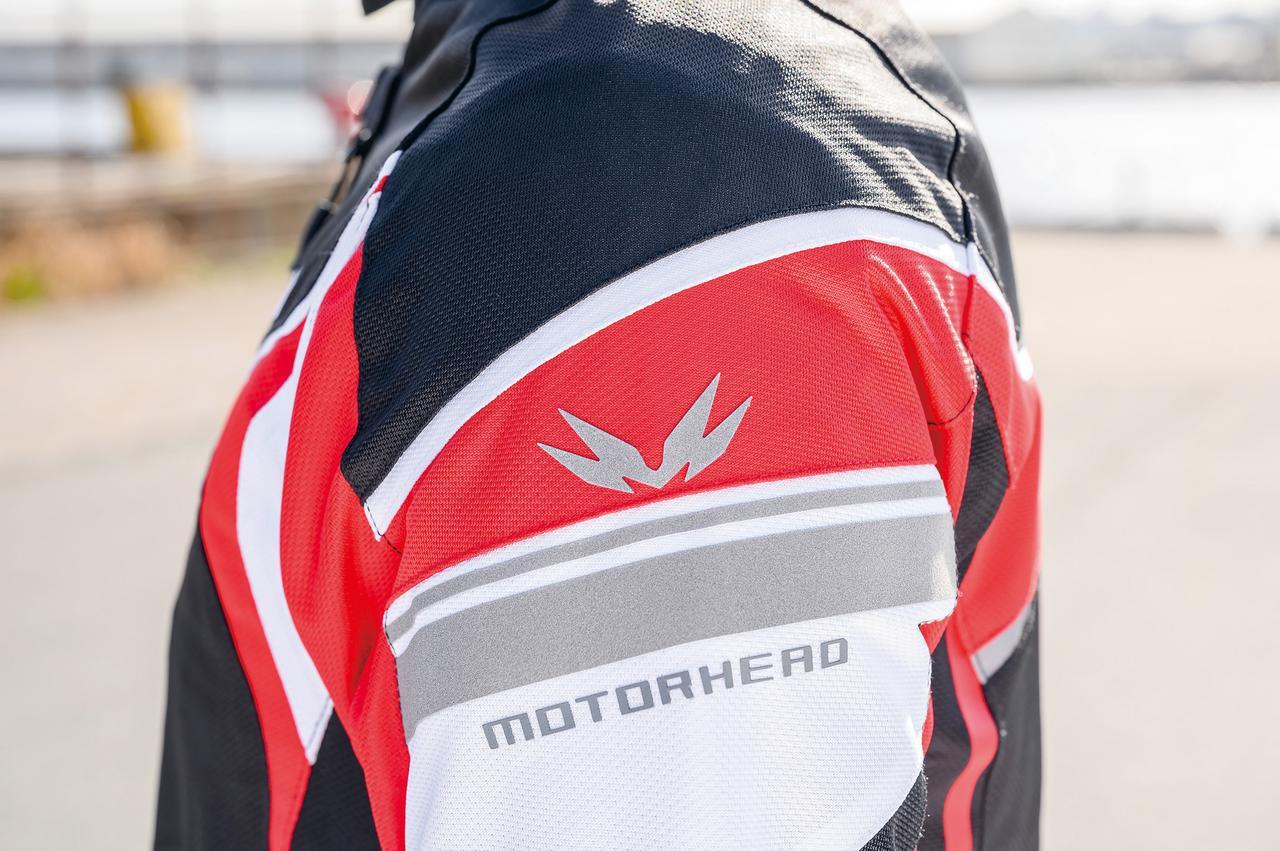 画像: 肩にはリフレクターも兼ねたブランドロゴ&マークを配置。