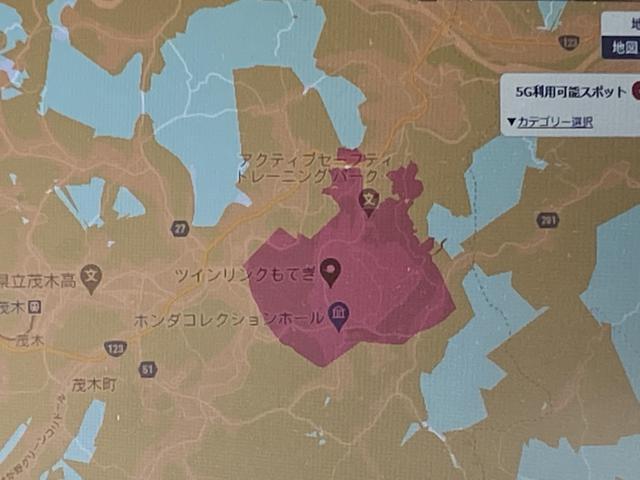 画像: 赤い場所が5Gが使える場所でツインリンクもてぎだけ使用可能なんです。(ドコモのみ)