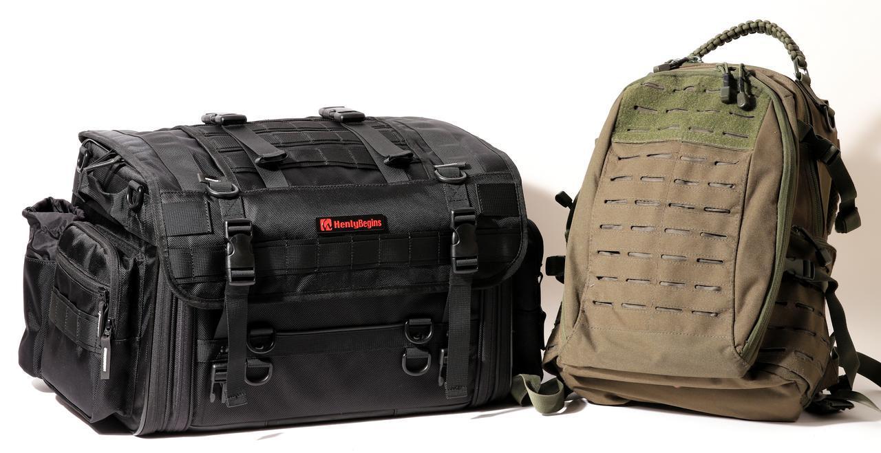 画像: ▲左は「PRO」シリーズ DH-744(L)。右は私物のタクティカルバッグ。