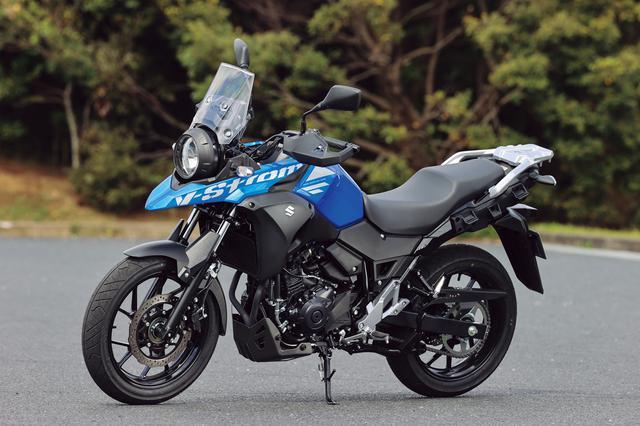 画像: SUZUKI V-Strom250 ABS 総排気量:248cc エンジン形式:水冷4ストSOHC2バルブ並列2気筒 シート高:800mm 車両重量:189kg メーカー希望小売価格:税込61万3800円