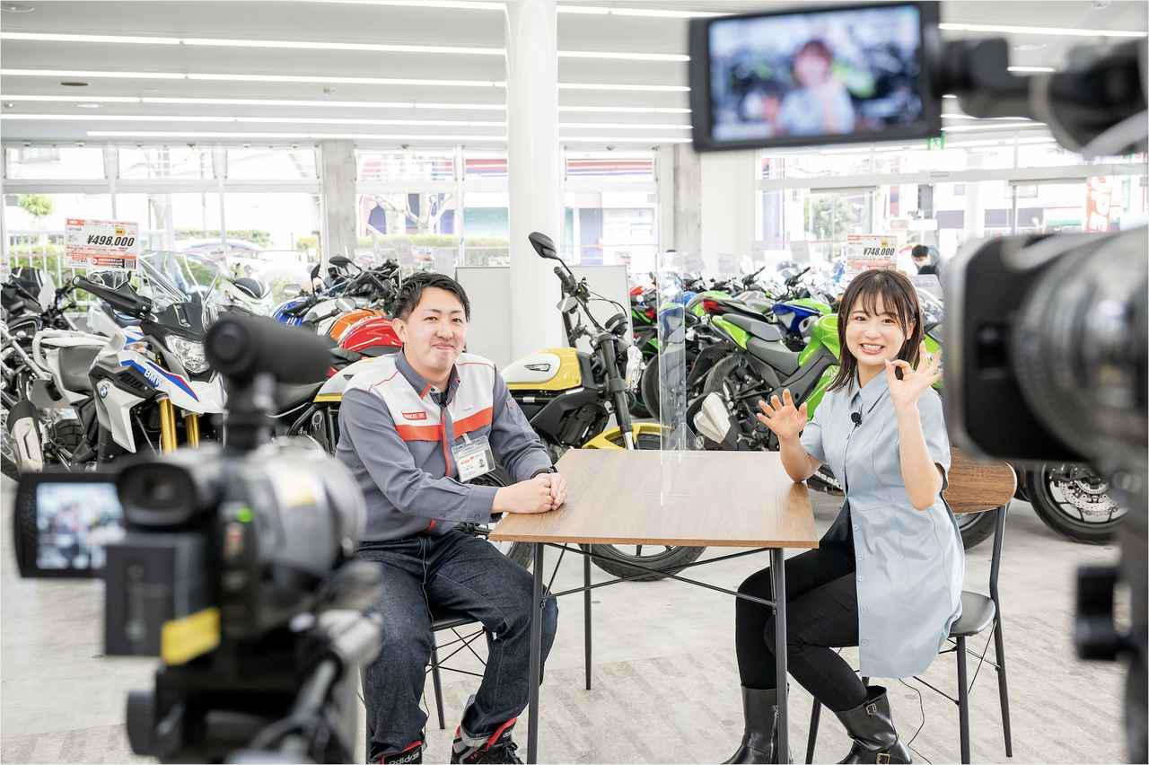 画像3: 平嶋夏海がキワドい質問をぶつけまくり! インタビューの模様はwebオートバイのYouTubeで公開中です!