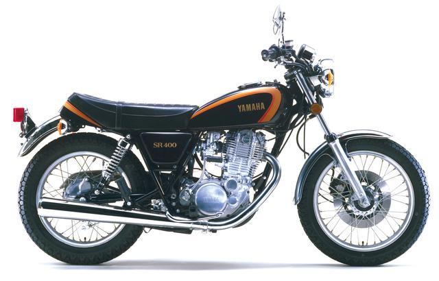 画像: 1978年 ヤマハ SR400 初期型 カラー:ブラックゴールド 発売当時価格:31万円
