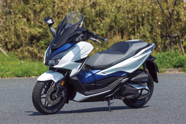画像: Honda FORZA 総排気量:249cc エンジン形式:水冷4ストOHC4バルブ単気筒 シート高:780mm 車両重量:186kg 2021年モデルの発売日:2021年3月25日(木) メーカー希望小売価格:税込65万8900円
