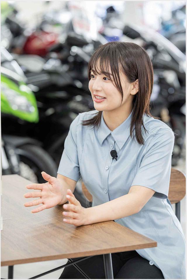 画像2: 平嶋夏海がキワドい質問をぶつけまくり! インタビューの模様はwebオートバイのYouTubeで公開中です!