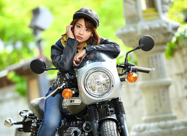 画像: 平嶋夏海 × カワサキ「W800カフェ」【オートバイ女子部のフォトアルバム】 - webオートバイ