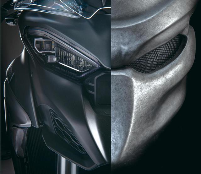 画像: プレデターの鼻がACC実現のキモ 新型ムルティはセンサーをどうデザインするかがテーマとなり、「プレデター」がモチーフに。鼻の部分がセンサーだ。