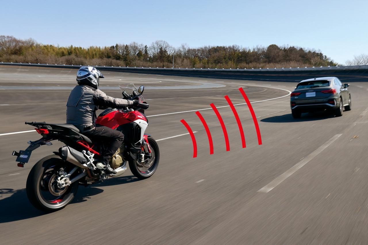 画像: 前の車に自動で付いていく! ACC作動中。車間距離は開けすぎると割り込みされやすいので、交通状況に応じて4段階に設定することができる。