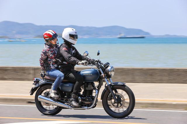 画像: ここの景色めっちゃよかった!じゃなくて、車格がしっかりあるから二人乗りも余裕です。