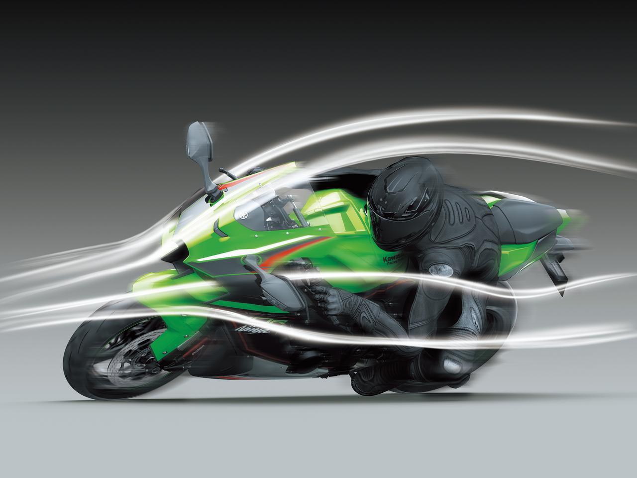 画像: ダウンフォースを約17%向上させた一体型ウイングレットなど、優れた空力特性を備える先進的なデザインを取り入れたコンパクトなフルカウルボディが最大の特徴。