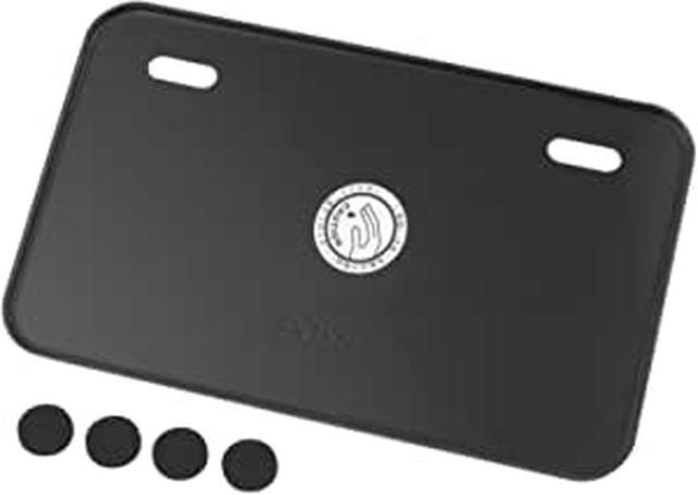 画像: Amazon | ポッシュ(POSH) アルミライセンスプレート Sサイズ (50-125cc) 新基準適合 ツメ無しタイプ ブラック 汎用