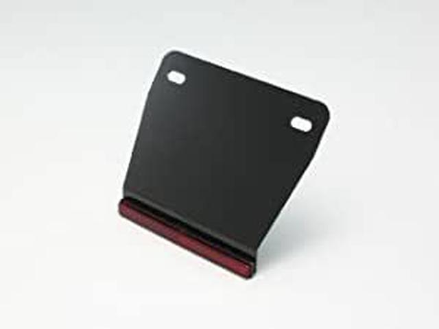 画像: Amazon | ハリケーン(HURRICANE) ナンバープレートベース&リフレクター W122 ブラック