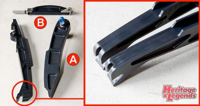 画像2: POINT1・カムチェーンテンショナーまわりの代替品への交換 カムチェーンテンショナーはVince&Hide製を使って対応