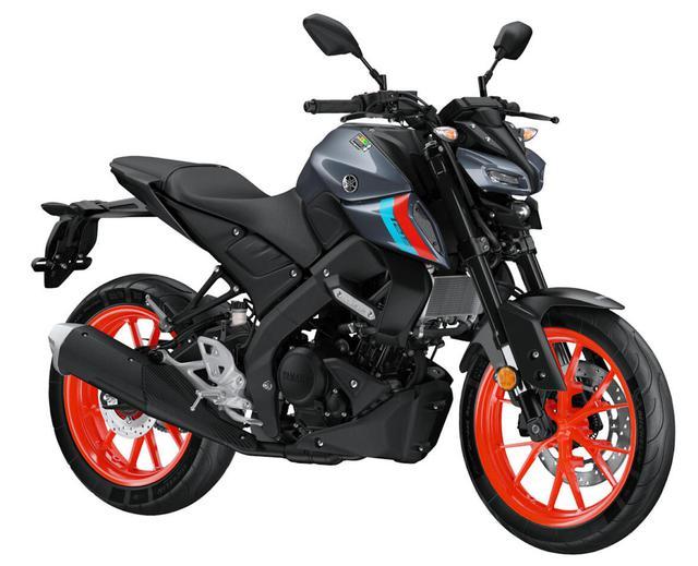 画像: YAMAHA MT-125 2021年モデル・海外仕様 カラー:ストームフルオ 排気量:125cc エンジン形式:水冷4ストOHC4バルブ単気筒 シート高:810mm 車両重量:142kg