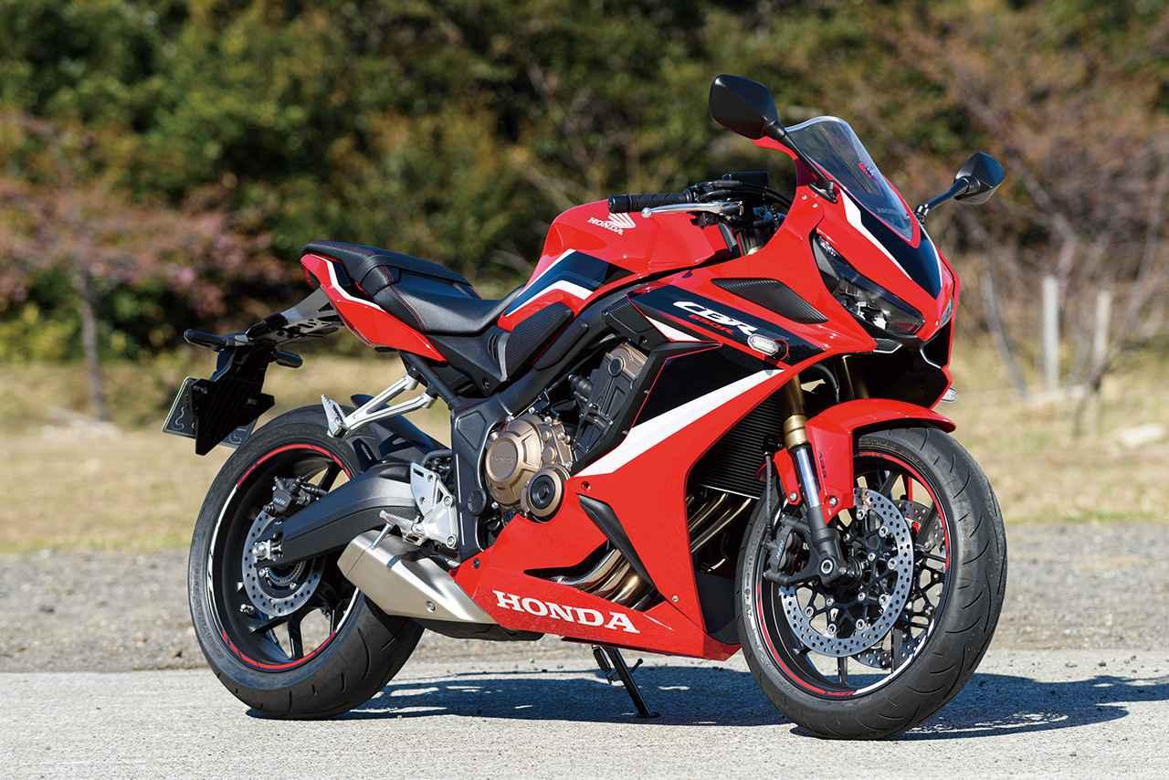 画像: Honda CBR650R 総排気量:648cc エンジン形式:水冷4ストDOHC4バルブ並列4気筒 最高出力:95PS/12000rpm 最大トルク:6.5kg-m/8500rpm シート高:810mm 車両重量:206kg 発売日:2021年1月28日(木) メーカー希望小売価格:税込105万6000円 写真のカラー(グランプリレッド)は税込108万9000円