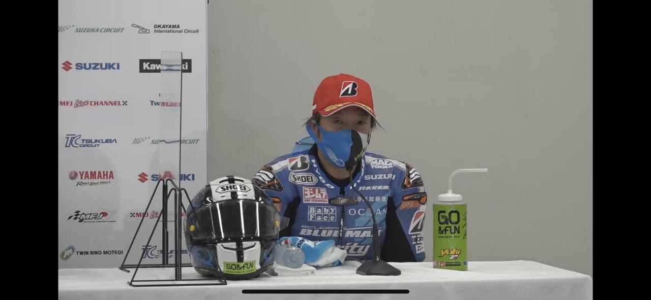 画像: 加賀山選手の記者会見の様子。