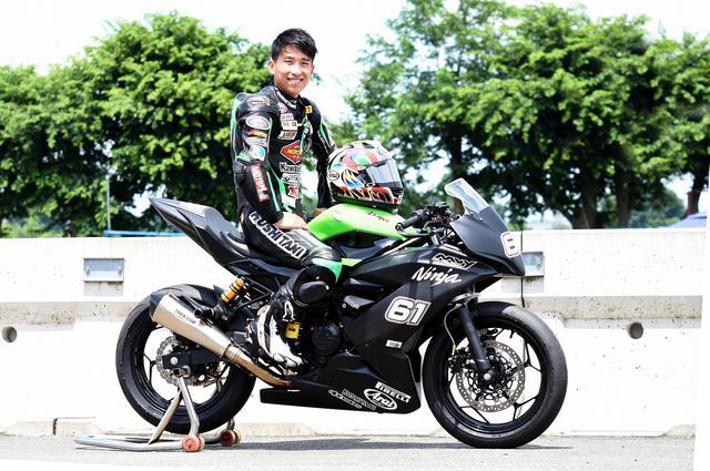 画像: WSSP300に参戦の岡谷雄太 写真は日本でトレーニング中のショット、練習用マシンはNinja250SLです