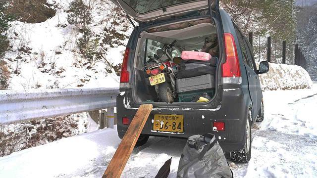 画像1: ホンダ・モンキーバハで雪道を走破せよ!