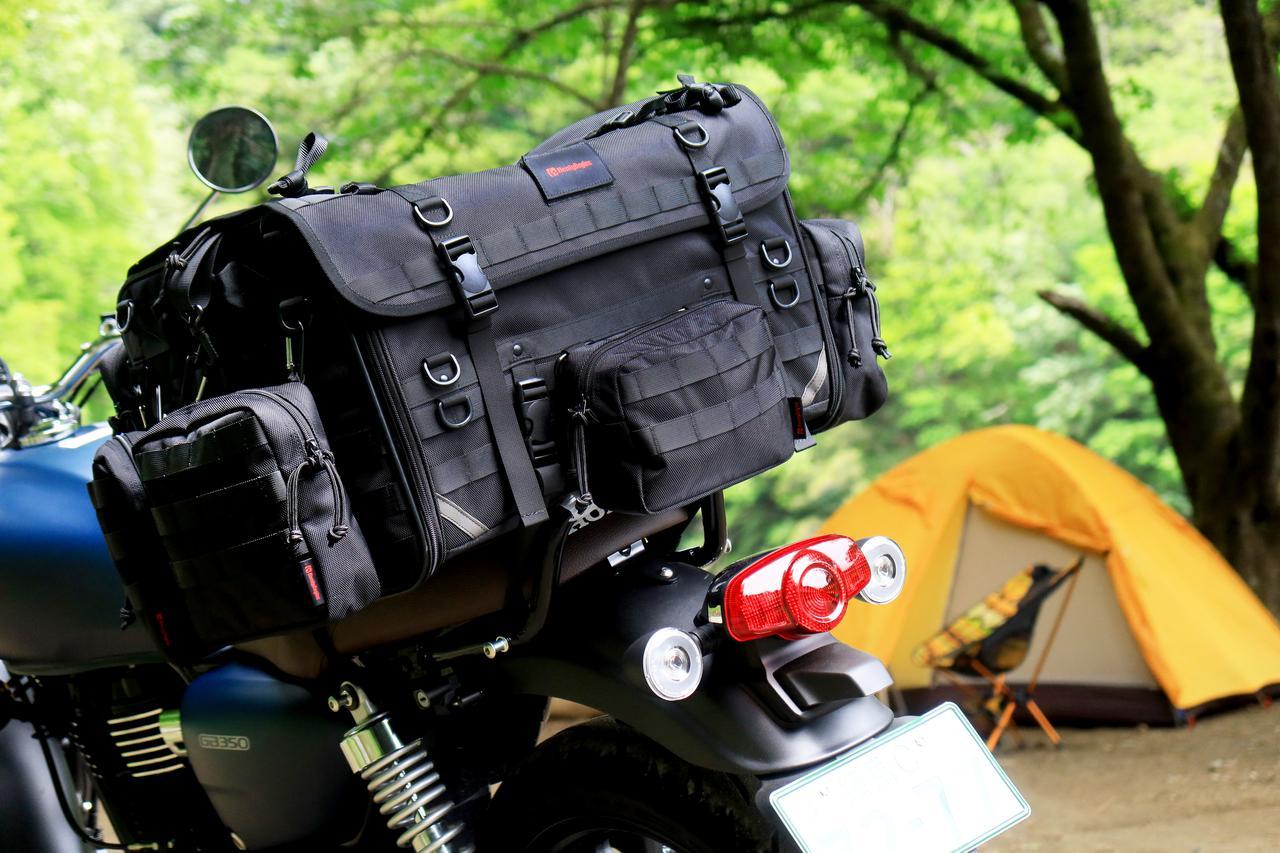 画像6: 「キャンプシートバッグ システム」を使ってGB350でキャンプをしてみた!