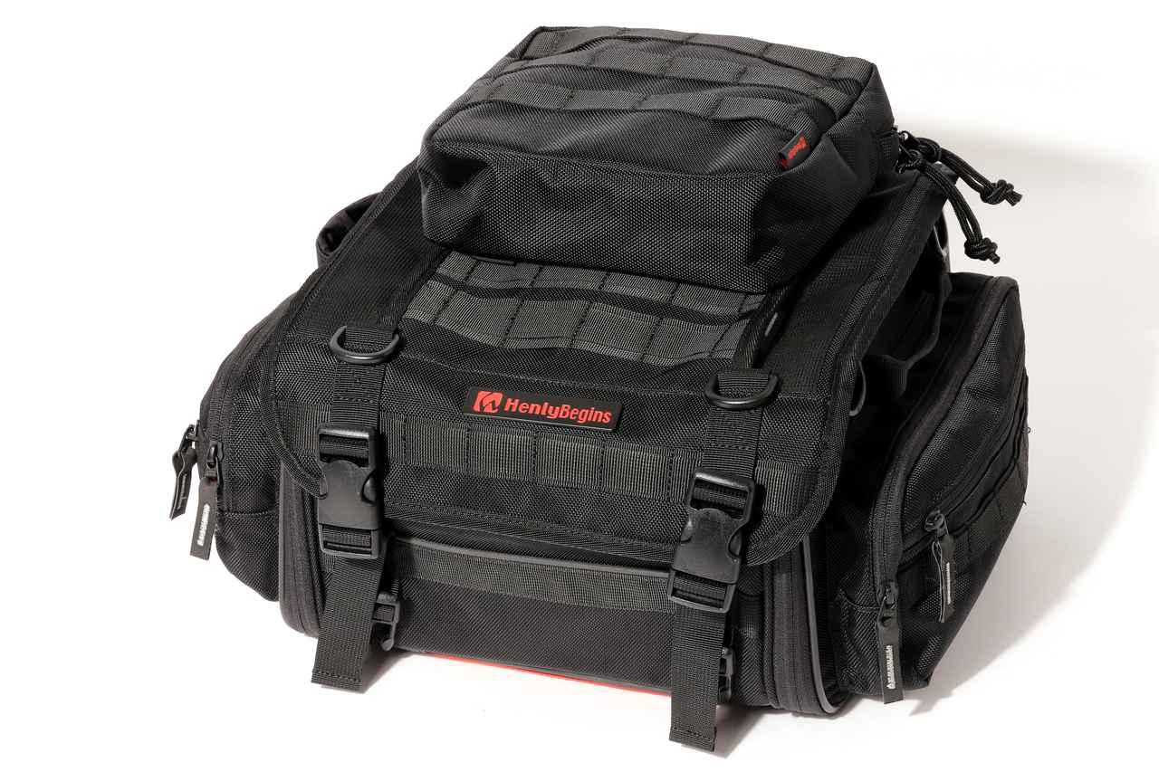 画像: ▲オプションポーチ「DH-753」(容量●●L)を装着! こんな風にお手持ちのバッグをポーチでカスタムすることも可能。とくにすでにヘンリービギンズのバッグを使っている方は、相性抜群なので一考の価値ありです。