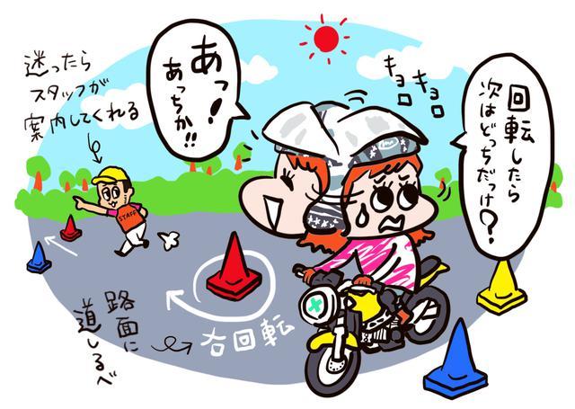 画像: コースに迷ったらどうしよう・・・初めてジムカーナをする人はほとんどそう思うはず。 迷ったらコース上で案内してくれるから安心だ。