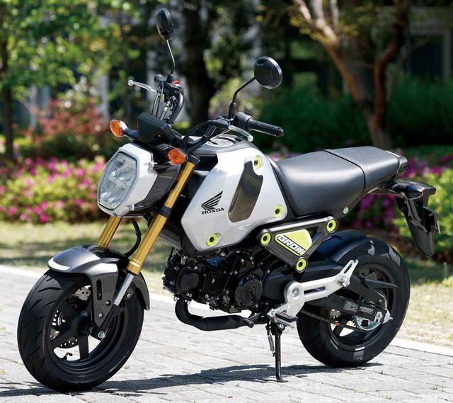画像: Honda GROM 総排気量:123cc エンジン形式:空冷4ストSOHC2バルブ単気筒 シート高:761mm 車両重量:102kg 2021年モデルの発売日:2021年3月25日 税込価格:38万5000円