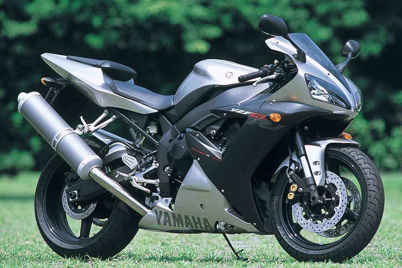 画像: YAMAHA YZF-R1 総排気量:998cc エンジン形式:水冷4ストDOHC5バルブ並列4気筒 最高出力:152PS/10500rpm 最大トルク:10.9kg-m/8500rpm 車両重量(乾燥):174kg ※輸出車(2002年・5PW)