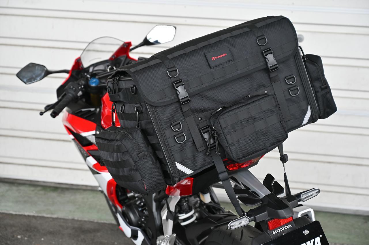 画像6: 自分仕様のキャンプツーリングバッグを作ろう! ヘンリービギンズの「キャンプシートバッグ システム」がかなえる自由な旅