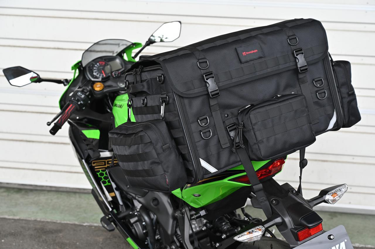 画像9: 自分仕様のキャンプツーリングバッグを作ろう! ヘンリービギンズの「キャンプシートバッグ システム」がかなえる自由な旅
