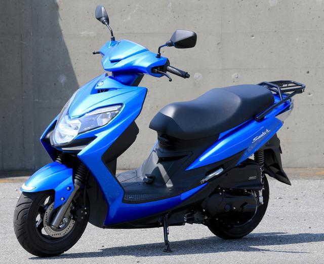 画像: SUZUKI SWISH 総排気量:124㏄ エンジン形式:空冷4ストSOHC2バルブ単気筒 シート高:760mm 車両重量:114kg 税込価格:32万4500円