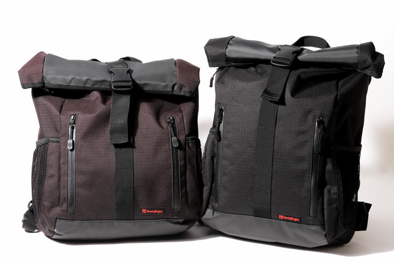 画像: HenlyBegins 防水バックパック DH-739 容量:16L メーカー希望小売価格:税込8,250円 左が2年間使ったもの。右が新品。