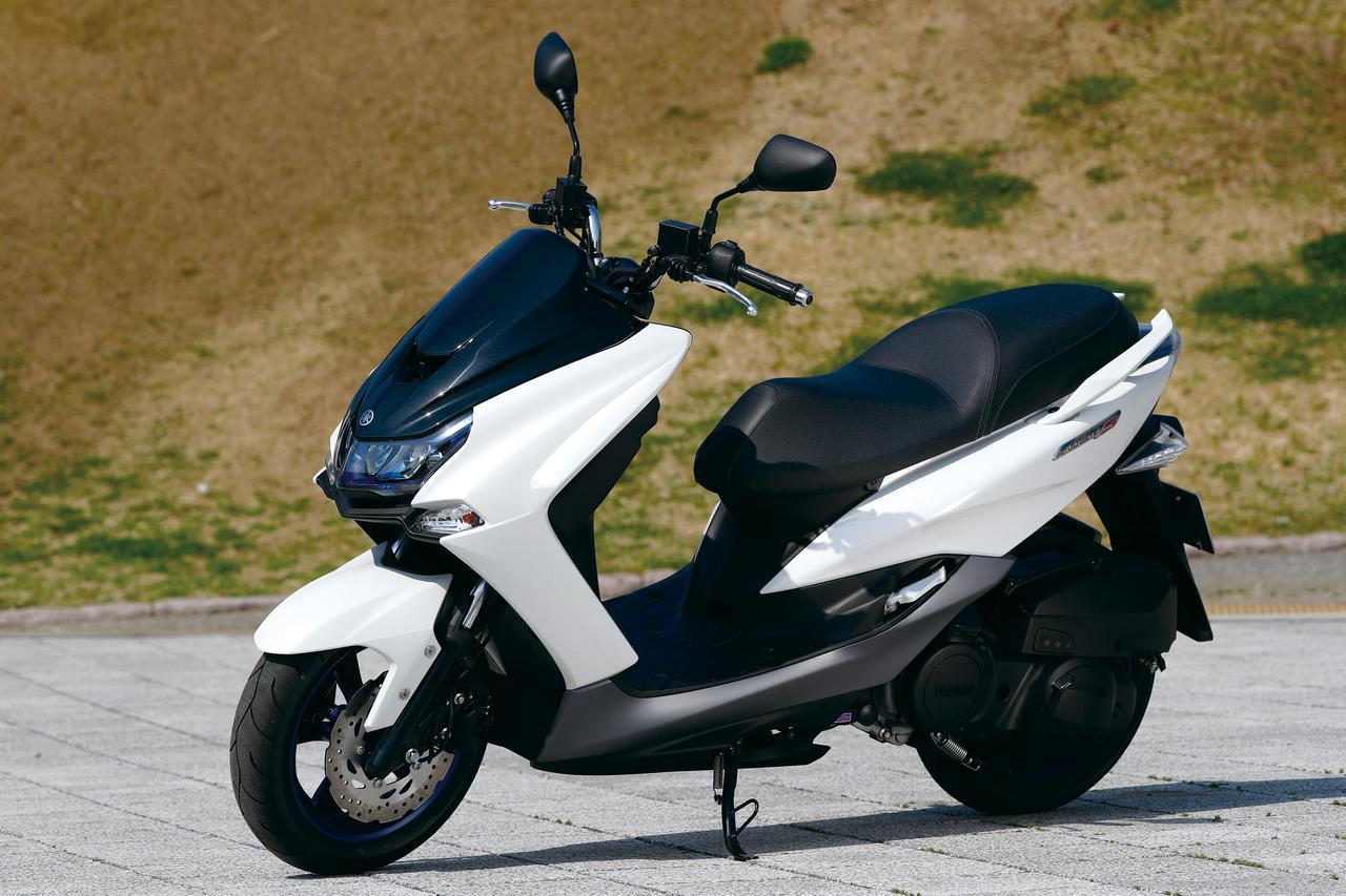 画像: YAMAHA MAJESTY S 総排気量:155cc エンジン形式:水冷4ストSOHC4バルブ単気筒 シート高:795mm 車両重量:145kg 税込価格:37万9500円