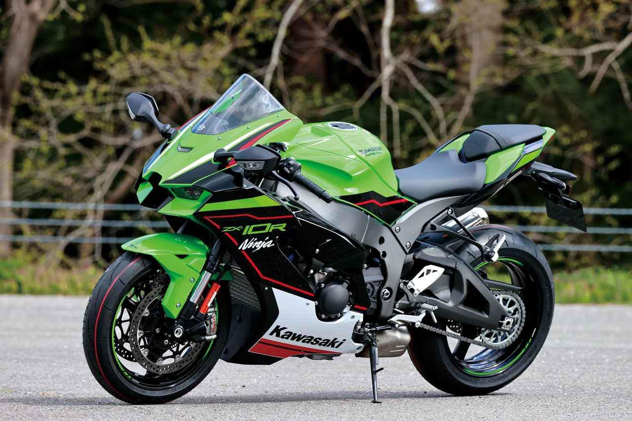 画像: Kawasaki Ninja ZX-10R 総排気量:998cc エンジン形式:水冷4ストDOHC4バルブ並列4気筒 シート高:835mm 車両重量:207kg 税込価格:229万9000円 ※写真はKRTエディション